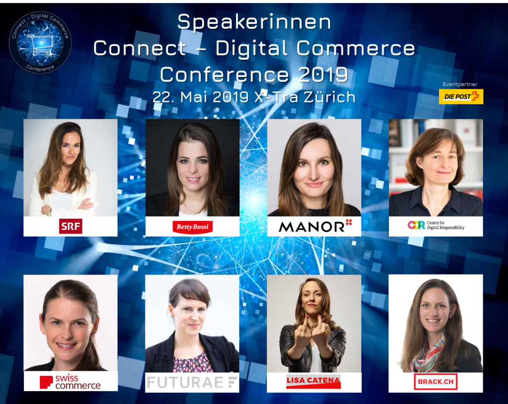 Diversität auf der Bühne: Speakerinnen an der Connect – Digital Commerce Conference 2019