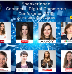 Diese Speakerinnen sind auf der Bühne an der Connect – Digital Commerce Conference 2019