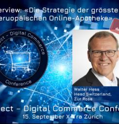 Keynote zur Strategie der grössten europäischen Online-Apotheke #dcomzh