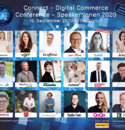 Vor Ort oder im Live-Stream: Erstklassige Speaker*innen an der Connect – Digital Commerce Conference #dcomzh